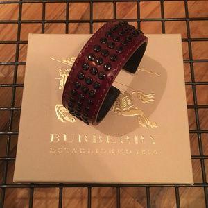 Burberry - Studded Patent Leather Cuff (Bracelet)